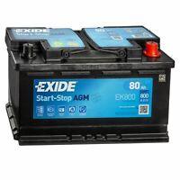 EK800 EXIDE Start-Stop AGM 12V/80Ah 800A (EN) Erstausrüstertechnologie