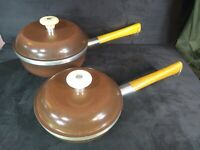 Lot of 2 Mark II by Regal Cast Aluminum Sauce Pans - 1- and 2-quart - Brown