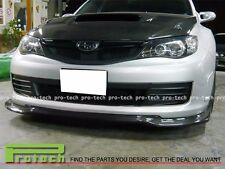 VR Style Carbon Fiber Front Bumper Add-On Lip For 2008-2010 Subaru WRX STI (GRB)