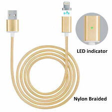 Magnetic Lightning USB Braided Charger Charging Cable For Apple iPhone Samsung