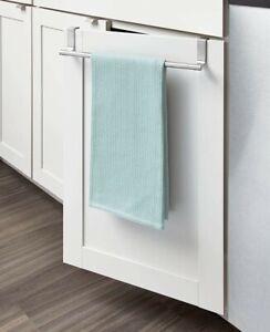 Over Door Tea Towel Holder Rack Bathroom Rail Cupboard Hanger Kitchen Hook UK