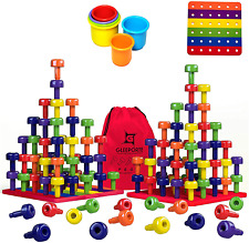 Stacking Peg Board Toy Set | Jumbo Pack | Montessori Occupational Therapy Fine M