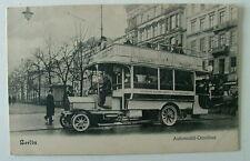 POSTCARD BERLIN GERMANY AUTOMOBIL OMNIBUS OLD BUS CAR #11byw