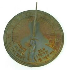 Flora and Fauna Brass Sundial Grow Old Along With Me The Best Is Yet To Be