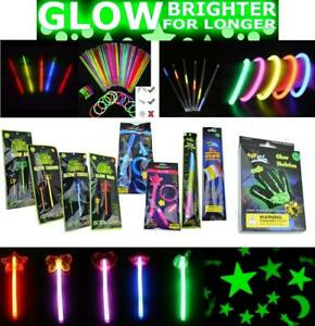 Glow Sticks Neon Colors Bracelets Necklaces Birthday Party Favors Disco Rave