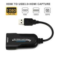 HDMI to USB 3.0 Video Capture Card 4K 1080P 60fps Record For Live Streaming