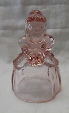 VINTAGE IMPERIAL  GLASS BRIDE DOLL  BELL  (ROSE PINK )