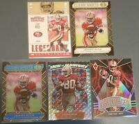 Jerry Rice 2020 Panini 5 Card Lot Mosaic Silver, Fire Forged Holo, Clear Shots