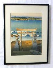 Toya Lake Hokkaido Kawase Hasui Wood Block Print