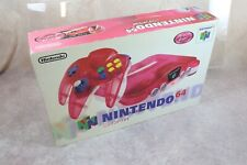 Nintendo 64 Console boxed Clear Red Color Japan N64 system US Seller