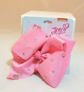 Jojo Siwa Nickelodeon Hair Bow Pink with Silver Sequins Hair Clip On