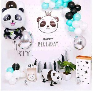 Panda latex, Foil Occasional Balloon Kids Birthday Celebration Party Decorations