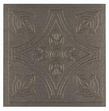 Peel and Stick Pewter PVC Adhesive Set of 27 Wall Tiles
