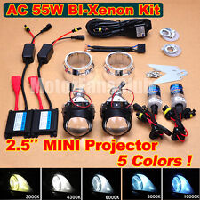 "2.5"" MINI Bi-Xenon HID Projector Lens Kit Car Headlight Retrofit Lamp AC 55W"