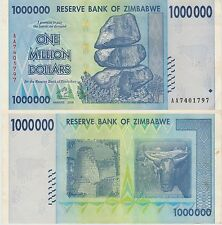 Zimbabwe 1 Million Dollars X 10  XF Pieces  (Rocks), 2008-USA SELLER- JAE47
