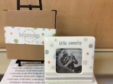 LITTLE SWEETIE PHOTO FRAME BEGINNINGS BY ENESCO NEW IN GIFT BOX CERAMIC