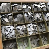 ALU Blindmaterial Ausschluss Quadraten Handsatz Letterpress Bleisatz Buchdruck