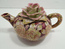 San Francisco Music Box Company Limited Edition Musical Teapot with Roses