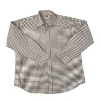 Ely Cattleman Mens Size 18.5-38 Tall Man White Long Sleeve Pearl Snap Shirt