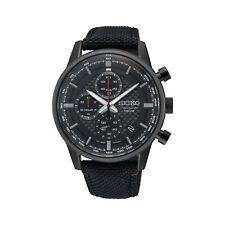 Seiko Sports Quartz Chronograph Tachymeter Nylon Strap Men's Watch SSB315P1