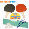 Table Tennis Set - Ping Pong Set Includes Balls Paddle Bats Net Game Kit Adult