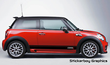 Mini Cooper S Stickers Door BMW Supercharged R50 JCW R53 R56 Turbo Decal Pair