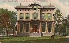 East End Hall on South Railroad Street in Myerstown Pa Postcard 1910