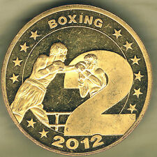 """SUMMER OLYMPIC GAMES LONDON 2012 BOXING MEDAL. NUMBER """"2"""" FROM 2012. D=40 mm"""