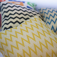 Linen Blend Geometric Decorative Cushions & Pillows
