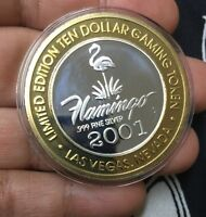 Limited Edition .999 Fine Silver Ten Dollar Gaming Token Las Vegas