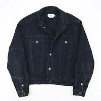 Vintage CALVIN KLEIN Black Casual Denim Jacket Womens Size Medium