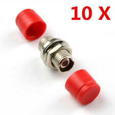 10Pcs Lot FC-FC/PC Fiber Optic Adapter Coupler Connector  Female to Female New