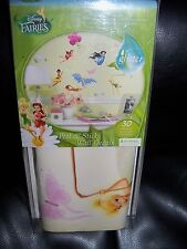 Disney Fairies Peel & Stick Wall Decals with Glitter New