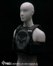 "ASTOYS AS025A 1/6th Cool Black Skull Vest Model Jacket F/12"" Figure Body Doll"