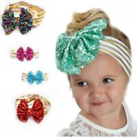 Turban  Band Toddler Infant Headwear Bowknot Sequined Girl Baby Headband Stripe