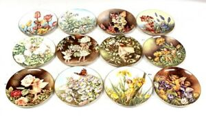 x12 BORDER 'A Festival of Flower Fairies' Series Collector Plates - USED N14