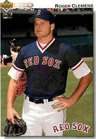 Lot Of 100 1992 Upper Deck Baseball Roger Clemens Card # 545