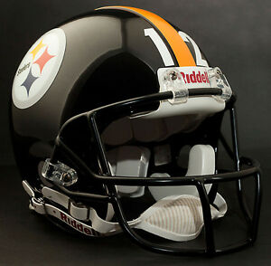 TERRY BRADSHAW Edition PITTSBURGH STEELERS Riddell AUTHENTIC Football Helmet NFL