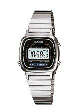 Casio Ladies Digital Silvertone Watch, Chronograph. Alarm,  LA670WA-1