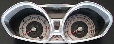 Ford fiesta Mk7 impresionante diales Blanco (modelo de gasolina desde 2008)