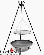 Schwenkgrill Cook King schwarz Grill-Rost Edelstahl Ø 70cm+Feuerschale Bali 80cm