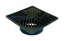 """NDS 4 Square Structural Foam Polyolefin Grate 6"""" Black"""