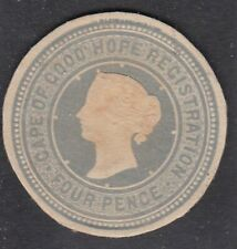 Cape of Good Hope 4d Registration Victoria Postal Stationary Cut Out Cds Vgc