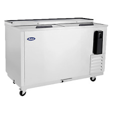 """Atosa Mbc50 49"""" Commercial Back Bar Cooler,2 Doors Stainless steel"""