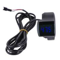 Thumb Accelerator Shifter with Bike Digital Voltage Display for Electric Scooter