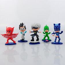5pcs/set Pj Masks 7-9cm Figurines Catboy Owlette Gekko Spielzeug Kind Sammler