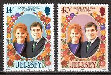 Jersey - 1986 Royal wedding - Mi. 386-87 MNH