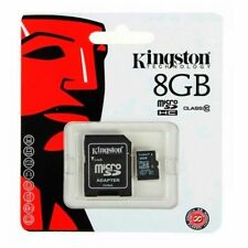 8GB Kingston Class 10 MICRO SDHC MEMORY CARD WITH SD ADAPTER TF HC MICROSD