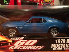 Ertl 1/18 Gone In 60 Seconds 1970 Ford Boss 429 Mustang Item 36685