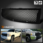For 2007-2013 Chevy Silverado 1500 Pickup Glossy Black Front Hood Mesh Grille